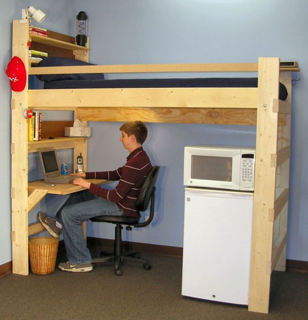 25 best ideas about teen loft beds on pinterest teen loft bedrooms loft beds for teens and Bedroom furniture for college students
