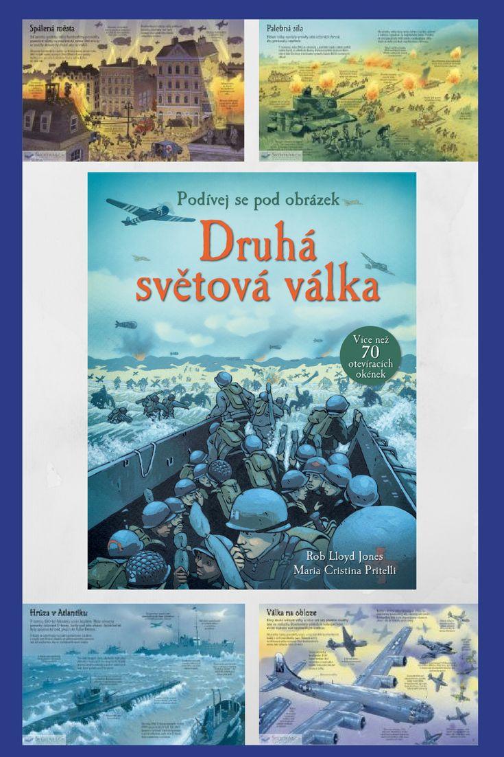 Tato encyklopedická kniha s mnoha informacemi, živými ilustracemi a s více než 70 otevíracími okénky vás zavede přímo do bojů druhé světové války. #druhasvetovavalka #encyklopedie #deti #historie
