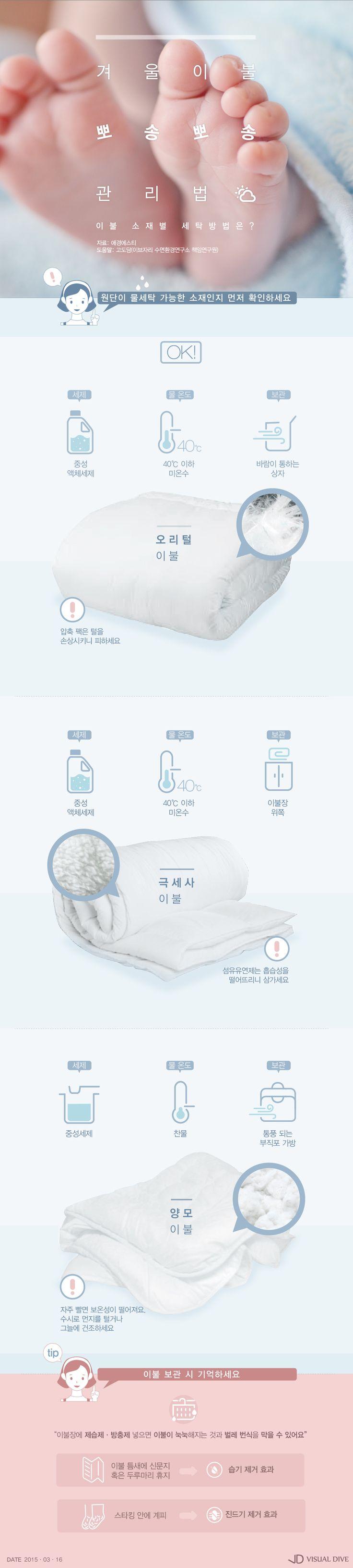 겨울 이불 내년까지 보송보송하게 … 효과적인 관리법은? [인포그래픽] #bedclothes / #Infographic ⓒ 비주얼다이브 무단…