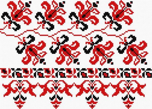 haft ludowy | Motywy 096 (haft ukraiński, ludowy, ornament, ukrainian embroidery)