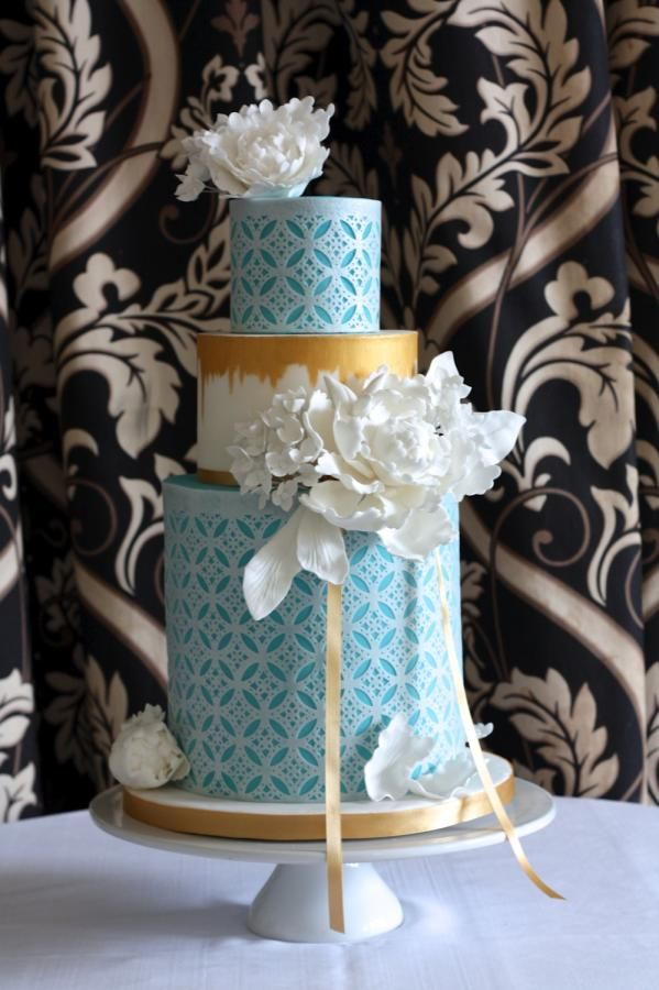 Wafer Paper Punched Wedding Cake