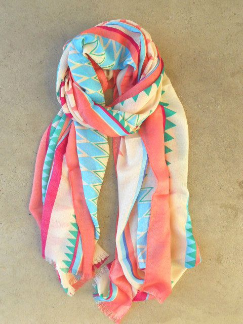 Spring Geometric Scarf [3754] - $21.00 : Vintage Inspired Clothing & Affordable Fall Frocks, deloom   Modern. Vintage. Crafted. on Wanelo