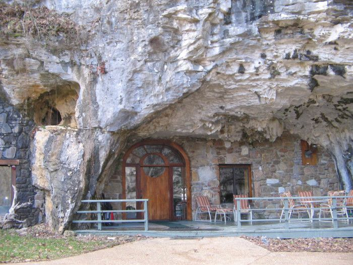8. Beckham Creek Cave Lodge: Currently undergoing a remodeling phase, this secluded lodge is located in a cave near Jasper, Arkansas.