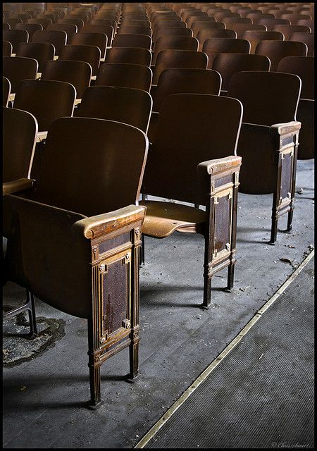 Our high school auditorium had these seats in it facing the stage.