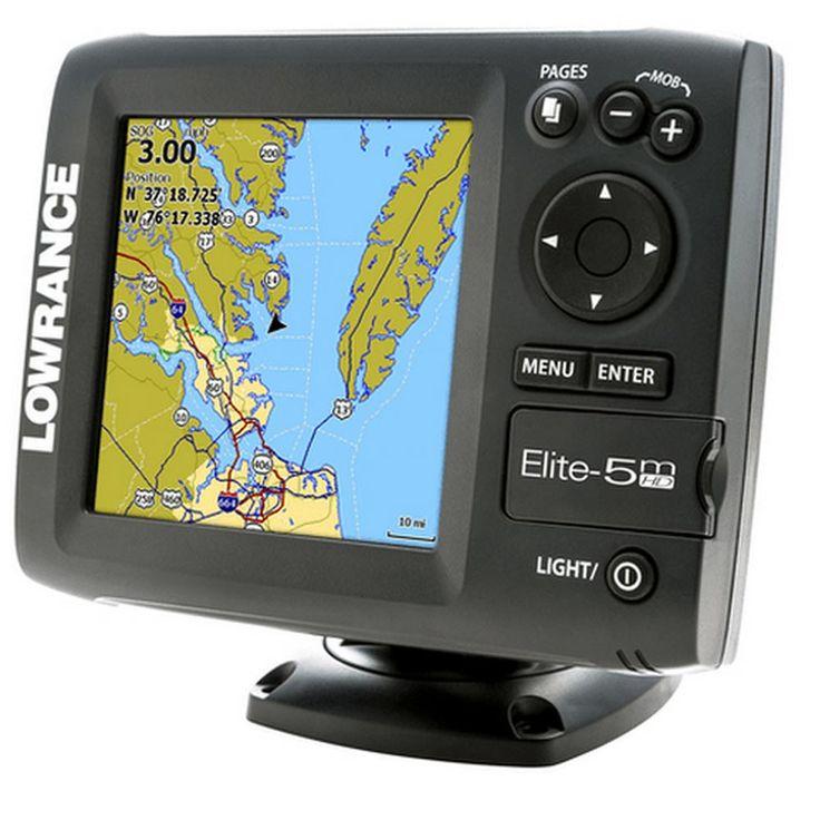 Lowrance Elite-M HD Baja Off Road GPS w/Built-In GPS Antenna & Embedded Land