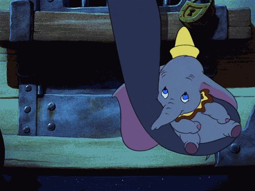 Dumbo & his Mom (gif).  This is the best looped gif I've ever seen!  Also, this part is heartbreaking.