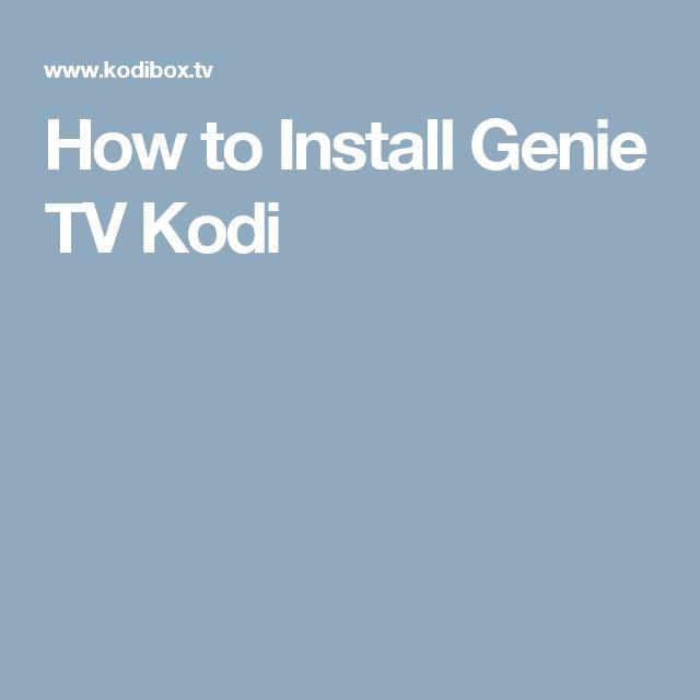 How to Install Genie TV Kodi