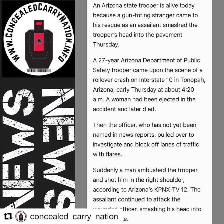 """#Repost @concealed_carry_nation  """"An Arizona state trooper is alive today because a gun-toting stranger came to his rescue as an assailant smashed the troopers head into the pavement Thursday. """". Snippet: wnd.com  #guns #glock #tactical #2a #igmilitia #igguns #edc #edcgear  #pewpew #everydaycarry #nfa #gunsofig  #gunsdaily #dailybadass #ballistics #ccnorig #nfa  #firearmphotography #guncontrol  #gunsofinstagram #2a #3percent #nra #freedom #concealedcarry #crfirearms"""