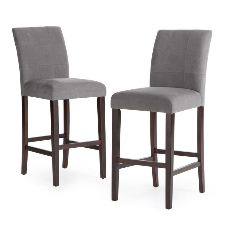Palazzo 30 Inch Bar Stool - Set of 2 - Perfect for upgrade your home bar seating, the Palazzo Barstool - Grey - Set of 2 is distinctive and comfortable. The stools have a classic parsons...
