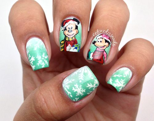Minnie and Mickey Christmas design