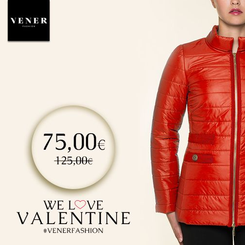 Red bouffant jacket by VENER for the cold days!