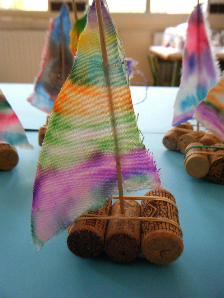 Veleros juguetes reciclados