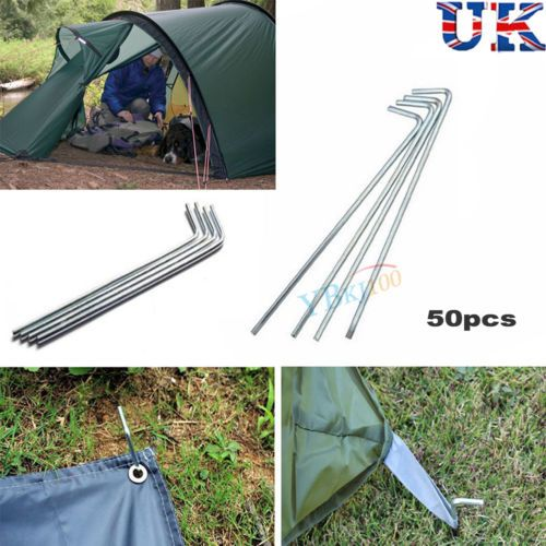 """50 x 8"""" alloy #metal tent pegs stake outdoor #camping #necessary trip survival uk,  View more on the LINK: http://www.zeppy.io/product/gb/2/322182677839/"""