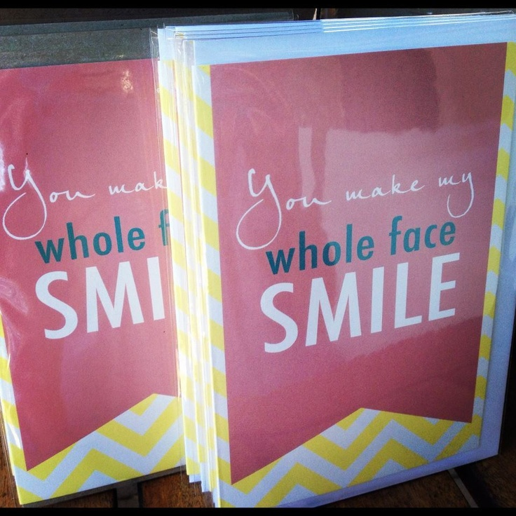 'Smile' Valentines Day / Greeting card
