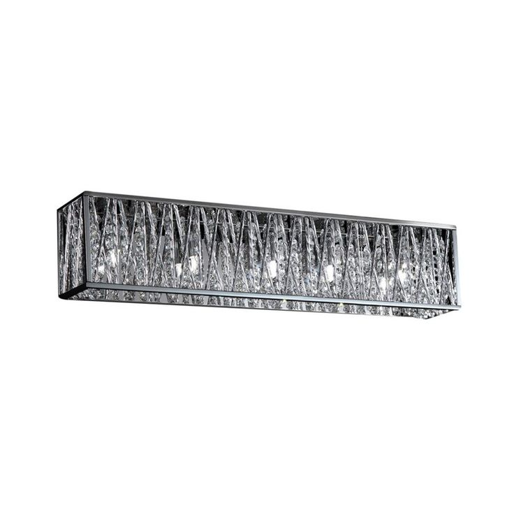5 light bathroom vanity light. shop zlite 5light mirach chrome crystal accent bathroom vanity light at lowes 5