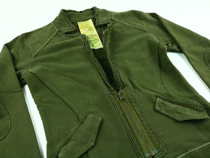 Kaporal 5 Women's Sweater Violin Style Green Cotton Long Sleeve Size Large #Kaporal5 #Cardigan