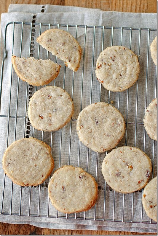 Pecan Sandies: 1 cup cake flour 1/2 cup butter 1/4 cup sugar 1 tsp ...