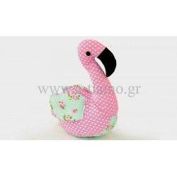 Διακοσμητικό Υφασμάτινο Μαξιλάρι Φλαμίνγκο flamingo Διάσταση: 26x15cm