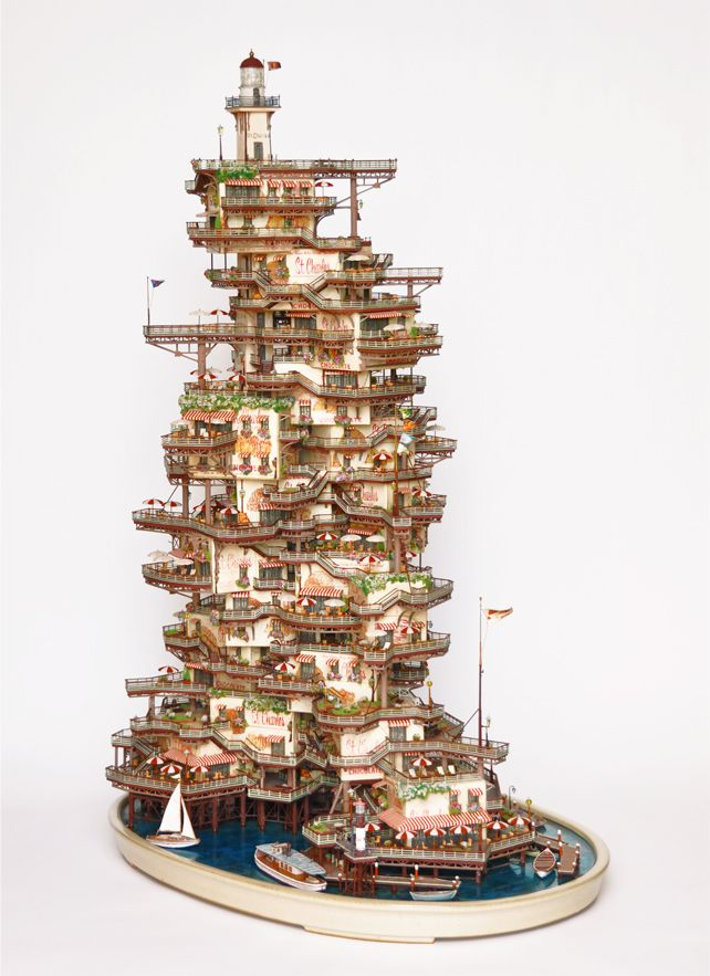 Outstanding Fantasy Towns Under the Hood by Takanori Aiby, a Miniature Art (14)