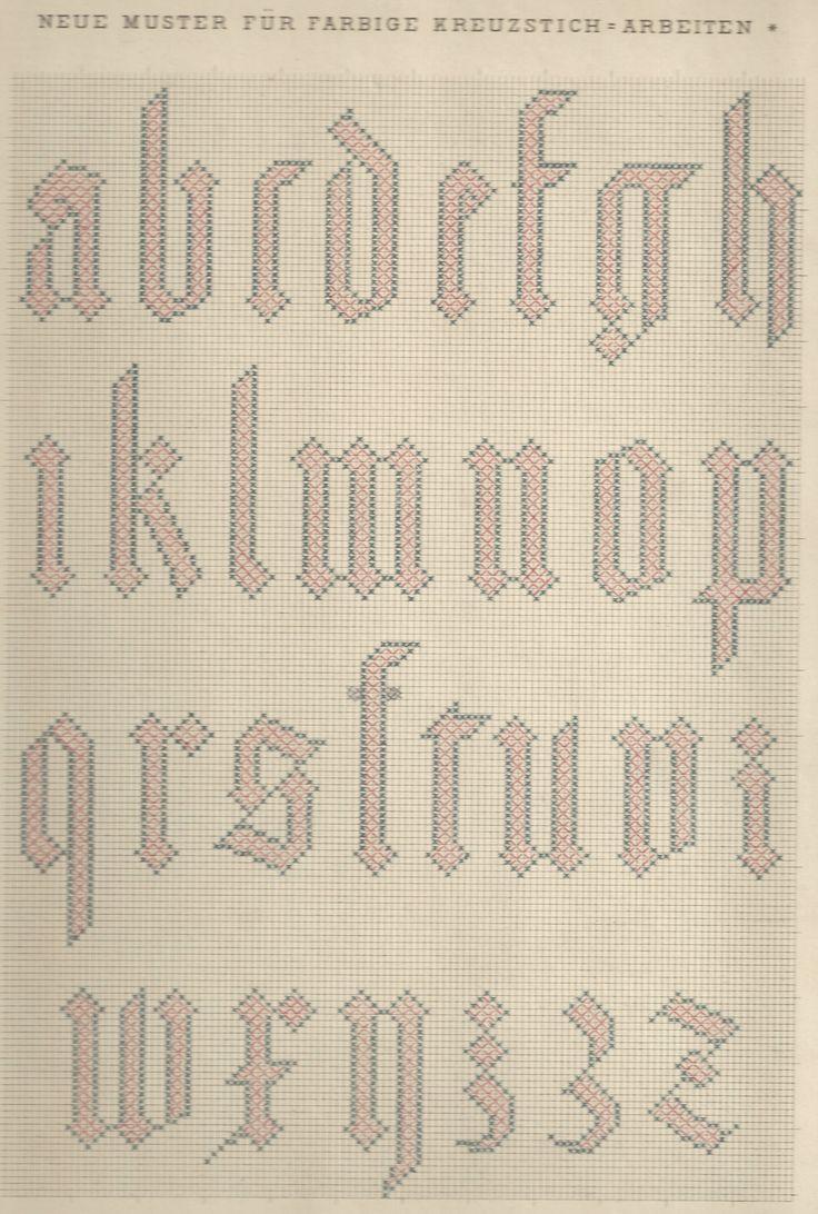 1 / Blatt 11 - Neue Muster-Vorlagen Fur Farbige Kreuzstich-Arbeiten - A. Scheffers - Published by J. M. Gebhardt's Verlag, Leopold Gebhardt, 1887