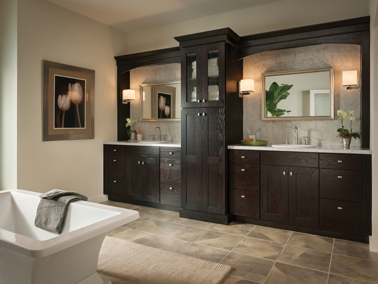 American Woodmark Bathroom Reading Oak Espresso Designs I Worked On Pinterest Reading And