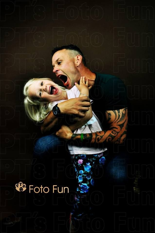 Dad and daughter crazy fun love