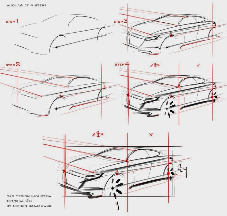 Car sketch tutorial by Marcin.