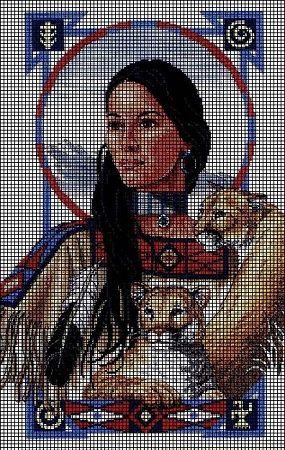native american medaila crochet afghans   home crochet graph patterns native american noble reflections crochet ...