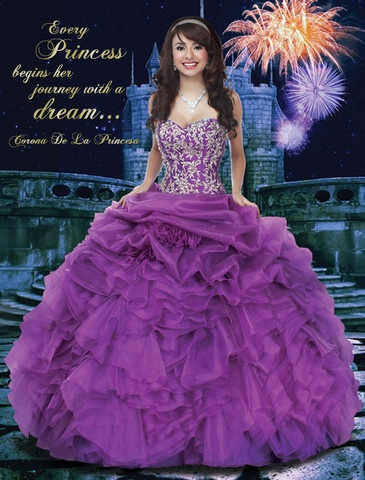 Disney Royal Ball Collection - Disney Princess Signature piece -  inspired quinceanera/quince gown! Check out QuinceMint.com for the full line!