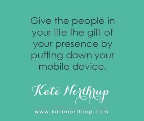5 Compelling Reasons To Put Down Your Cell Phone | Kate Northrup