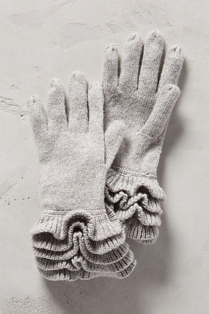 ❥ Ruffle Cuff Gloves - anthropologie.com
