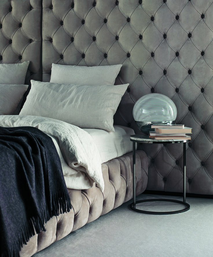 1000 images about meridiani editions tuyo bed collection on pinterest saddle leather quilt - Wit bed capitonne ...
