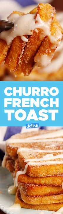 Churro French Toast will definitely make you a morning person. Get the recipe from Delish.com.