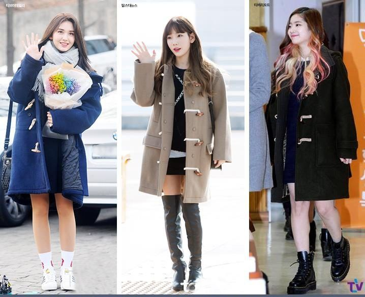 Korea Korean Kpop Idol Girl Group Band Twice Ioi Snsd Coat Black Skirt Idol Winter Outfit Ideas Tteo Perfect Winter Outfit Korean Winter Outfits Winter Outfits