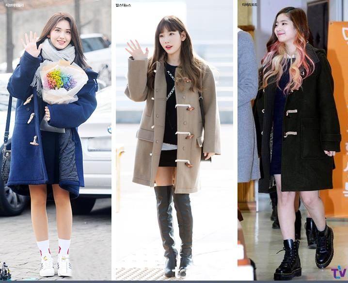 Korea Korean Kpop Idol Girl Group Band Twice Ioi Snsd Coat Black Skirt Idol Winter Outfit Ideas Tteo Perfect Winter Outfit Korean Winter Outfits Winter Outfits