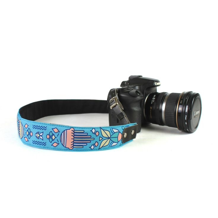 Punchdrunk Panda Camera Strap - {Sea} - With literally more than a thousand different sea creatures swimming in our waters, the Philippines' rich marine biodiversity is simply a sight to behold. Plus 63's Rax Maniquiz livens up your photography with a bright and colorful camera strap that lets you bring these adorable little critters around with you. Available in 2 sizes. Price starts from Php495. #punchdrunkpanda #photography #camerastrap