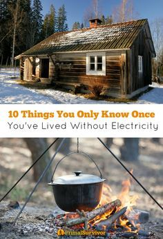 10 Things You Only Know Once You've Lived without Electricity. For most people, it is nearly impossible to imagine a life without electricity. How are you supposed to cook your food? How do you entertain yourself without TV? And what about those basic needs which we constantly overlook – like lighting and our washing machines? The thought of living without electricity is so scary that most won't even consider going a day or two without it. Do you want to join the Off Grid Revolution?