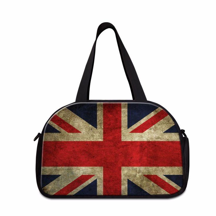 Dispalang Creative Design Union Jack UK US Flag Travel Duffle Bag Men Travel Handbags Portable Organizer Travel Necessary Bag
