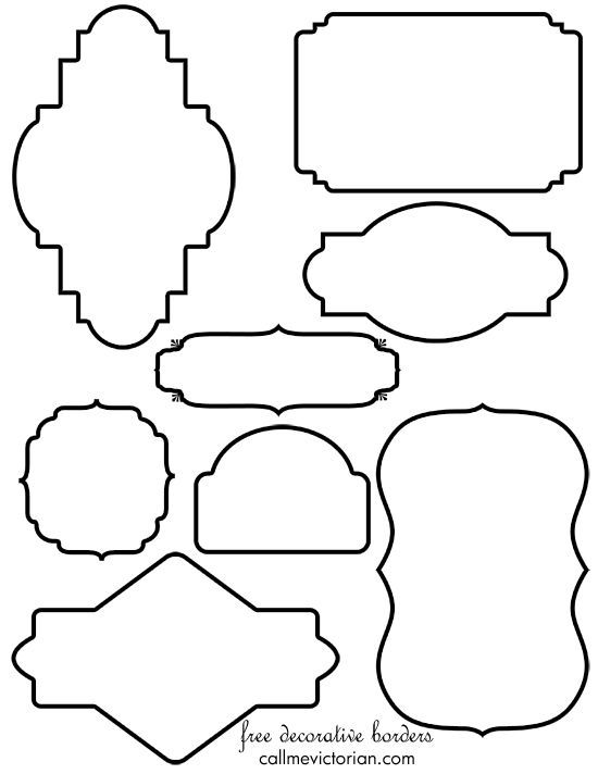 free vintage border frames clipart can use these as templates
