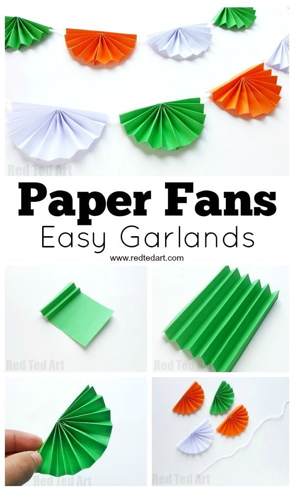 Paper Fan Bunting for Indian Independence Day