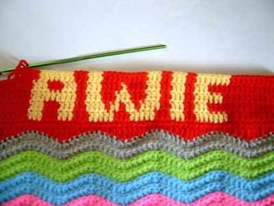 This is a tutorial on how to crochet words/name/alphabets on your crochet project