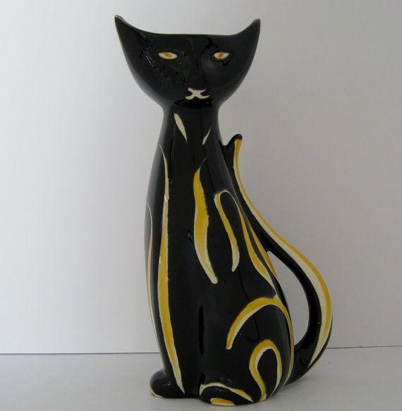 West German Ceramic Cat Vase