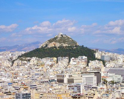 Lykavittos Hill, the best views of Athens! My favorite meal: on a trip with my mom, watching the sun set over Athens, as the Parthenon turned golden...