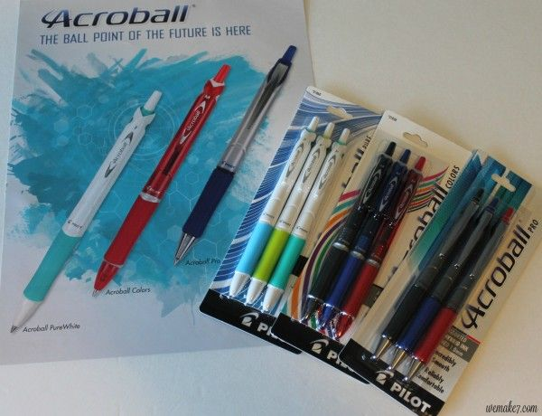 Write in style with Pilot Acroball & Dr. Grip Pens from Shoplet! - WEMAKE7