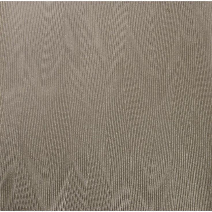 57.75 sq. ft. Wall Sculpture Wavy Strands Wallpaper, Grey