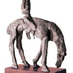 La Pesta - Bronze - 42x34x13cm Pestilence horseman of the Apocalypse - Bronze