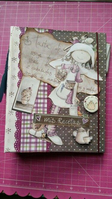 Mini álbum recetas arte&scrap  ofelia