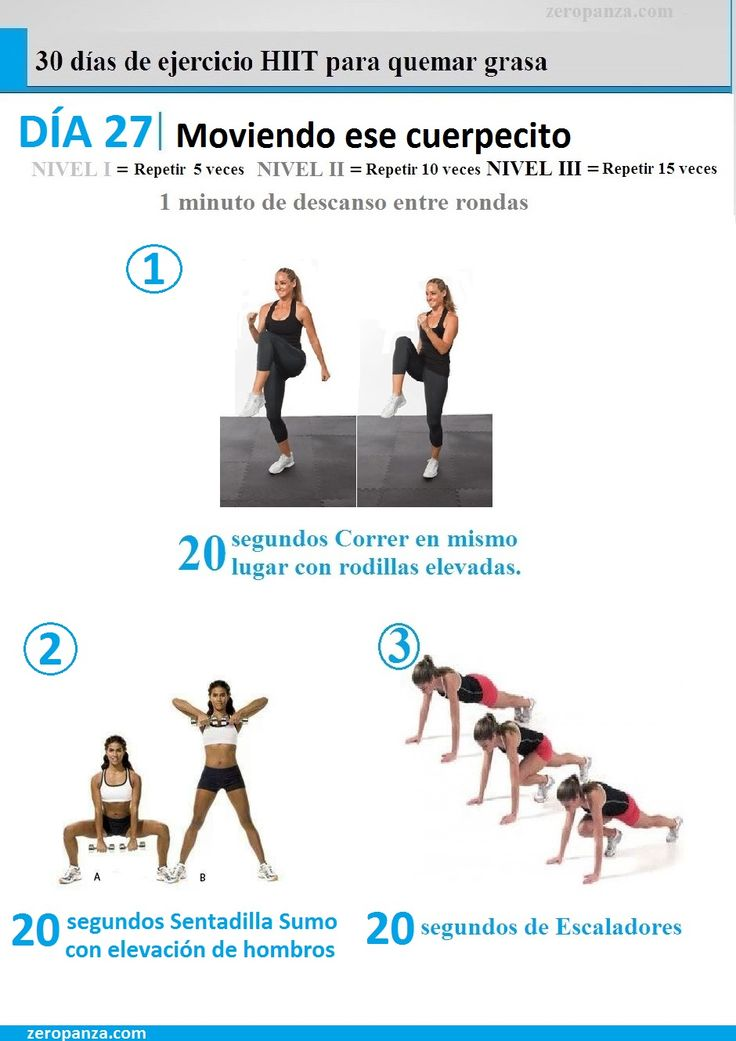 dia 27 de 30 días de ejercicios hiit para quemar grasa