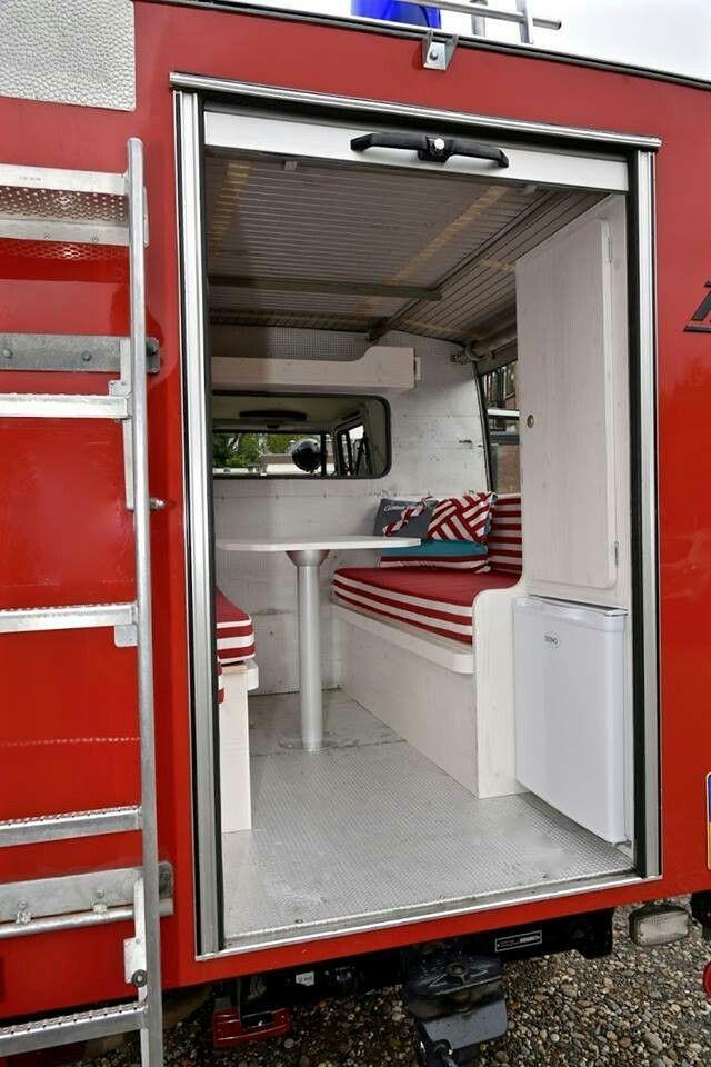 13 best Fire truck camper images on Pinterest Caravan, Truck - küchenmöbel gebraucht berlin