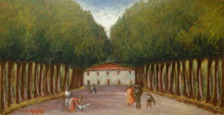 Rosai Ottone : Paesaggio  (1952)  - Olio su tavola - Asta Arte Moderna e Contemporanea, Grafica ed Edizioni - Galleria Pananti - Casa d'Aste...